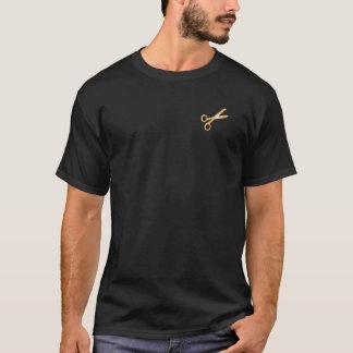 """Gold Scissors"" Barber Hair Stylist T-shirt"