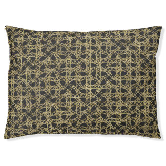 Gold Scratch Golden Modern Glam Pet Bed