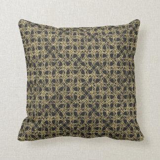 Gold Scratch Golden Modern Glamour Cushion