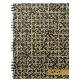 Gold Scratch Golden Modern Glamour Personalized Spiral Notebook