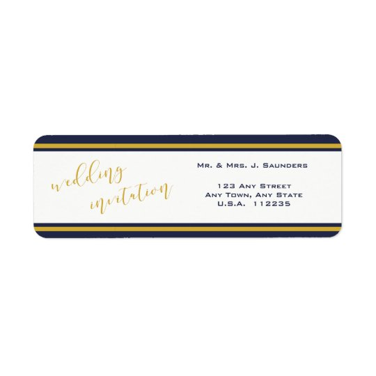 Gold Script Typography - Return Address Labels