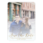 Gold Script Wedding Save the Date Custom Announcement