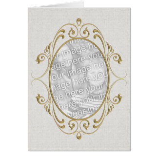 Gold Scroll Frame Card