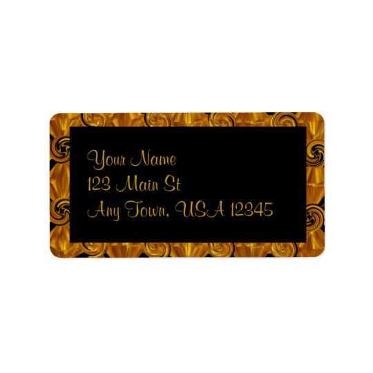 Gold Scroll Label