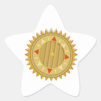 Gold SEAL : Sun CHAKRA Compass Star Sticker