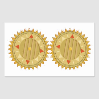 Gold SEAL : Sun CHAKRA Compass Stickers