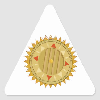 Gold SEAL : Sun CHAKRA Compass Triangle Sticker
