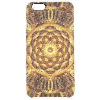 Gold Seam Mandala Clear iPhone 6 Plus Case