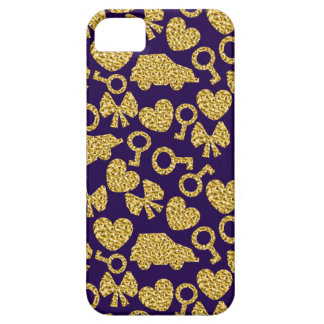 gold seamless pattern 3 .1 case for the iPhone 5