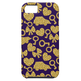 gold seamless pattern 3 .1 iPhone 5 covers