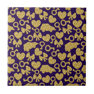 gold seamless pattern 3 .1 small square tile