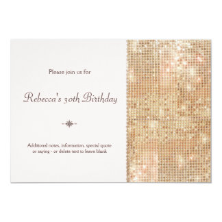 Gold Sequins 30th Birthday Blush Pink 13 Cm X 18 Cm Invitation Card