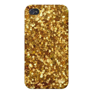 Gold sequins iPhone case Covers For iPhone 4