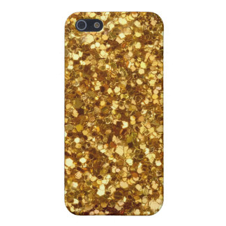 Gold sequins iPhone case Case For The iPhone 5