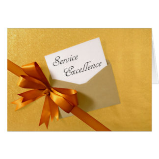Gold Series - Service Excellence Card