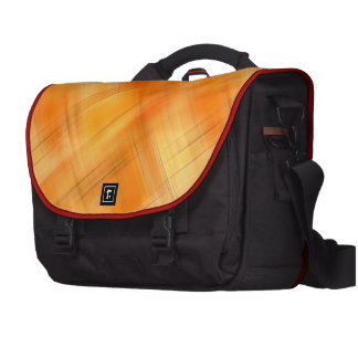 Gold Shades Of Plaid Commuter Bag