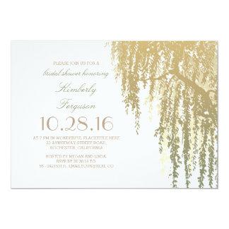 Gold Shades Willow Tree Elegant Bridal Shower Card