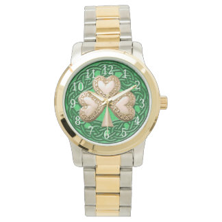 Gold Shamrock Watch