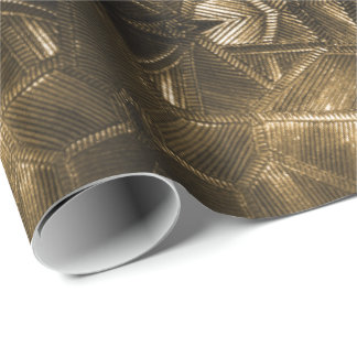 Gold Sheen Elegant Textured Glass Look Wrapping Paper