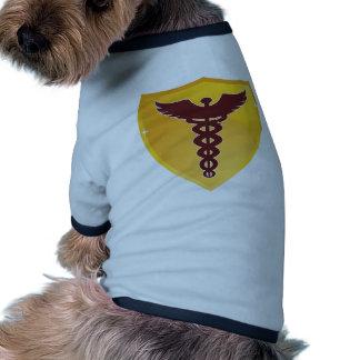 Gold Shield Caduceus Medical Symbol Doggie Tee