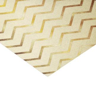 Gold Shimmer Chevron on Gold Tissue Paper