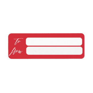 Gold Shimmer Merry Christmas Label To From Return Address Label
