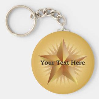 Gold Shining Star Keychain