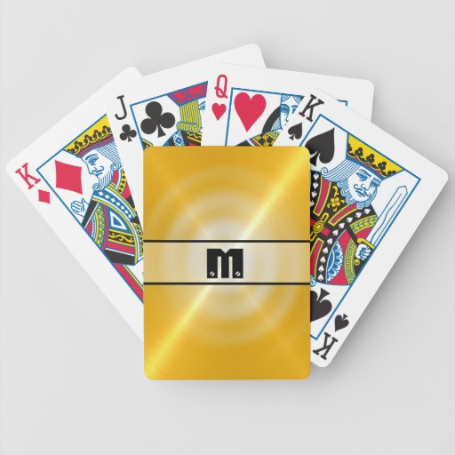 Gold Shiny Stainless Steel Metal 2 Card Deck