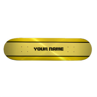 Gold Shiny Stainless Steel Metal Skate Board Deck