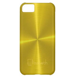 Gold Shiny Steel Metal iPhone 5C Case