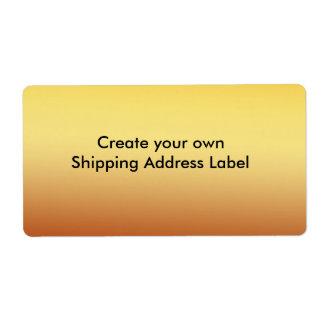Gold Shipping Address Label
