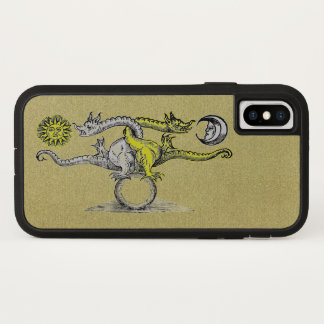 Gold & Silver Alchemy Dragons iPhone X Case