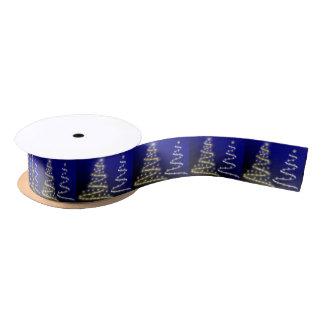 Gold & Silver Christmas Trees - Satin Ribbon