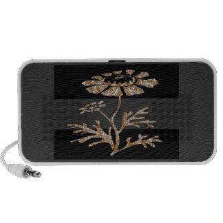 Gold Silver Engraved Floral Art Speaker System