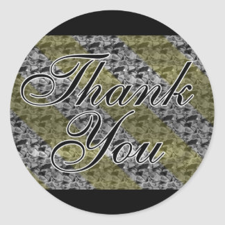 Gold Silver Thank You Stickers