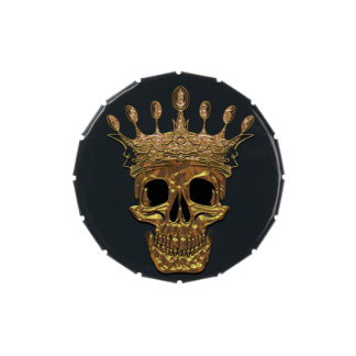 Gold Skull Jelly Belly Candy Tins