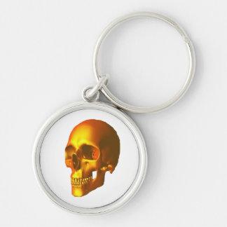Gold skull keychains