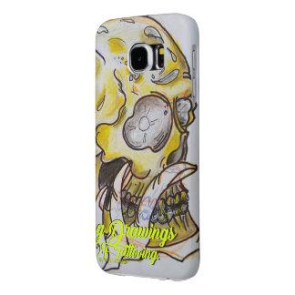 Gold Skull Samsung Galaxy S6 Cases