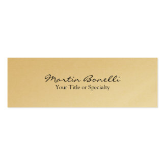 Gold Slim Special Unique Modern Professional Double-Sided Mini Business Cards (Pack Of 20)