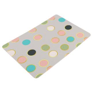 gold smoked polka dots floor mat
