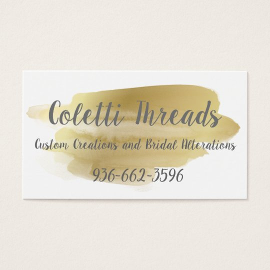 Gold Smudge Business Card