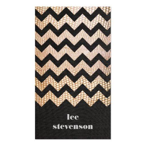 Gold Snake Skin Zig Zag Pattern Groupon Business Card Templates