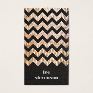 Gold Snake Skin Zig Zag Pattern Groupon Business Card