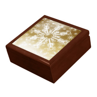 Gold Snowflake Gift Box