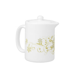 Gold Snowflake Teapot