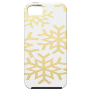 Gold Snowflake Winter Holiday Christmas Pattern Case For The iPhone 5