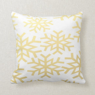 Gold Snowflake Winter Holiday Christmas Pillow