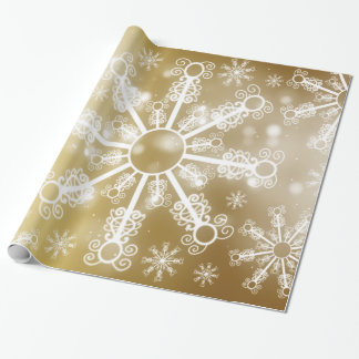 Gold Snowflake Wrapping Paper