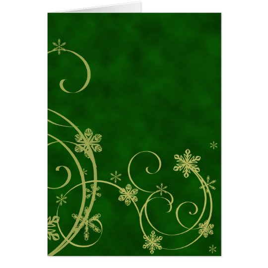 Gold Snowflakes Christmas Card