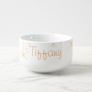 Gold Snowflakes Soup Mug